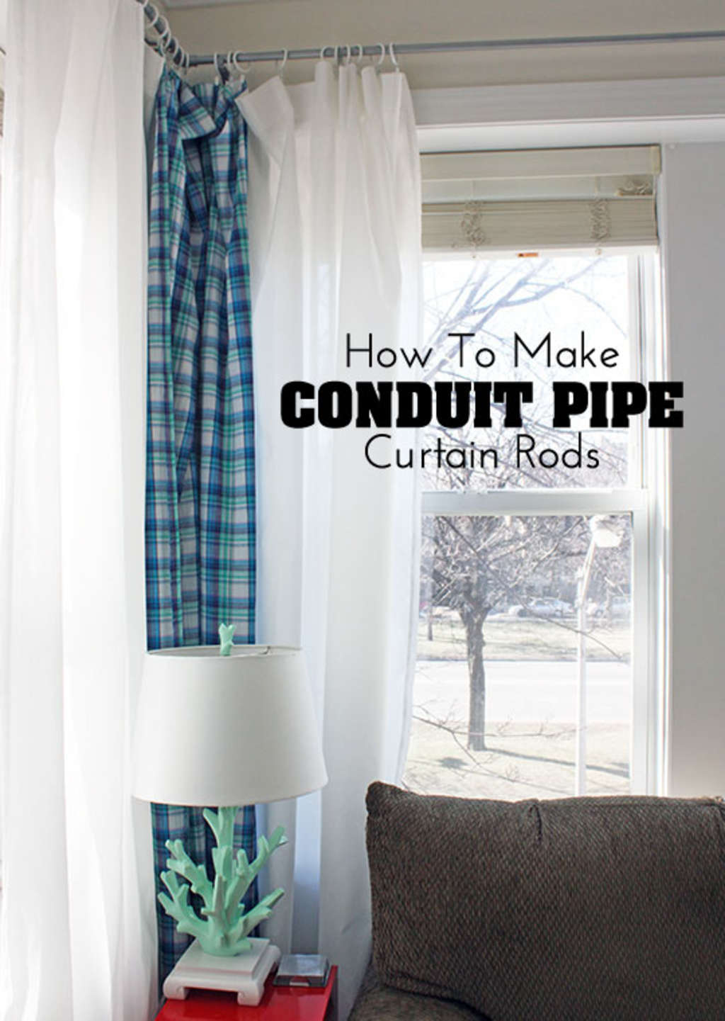 Diy Decor Project How To Make Conduit Pipe Curtain Rods Apartment Electrical Wiring Therapy