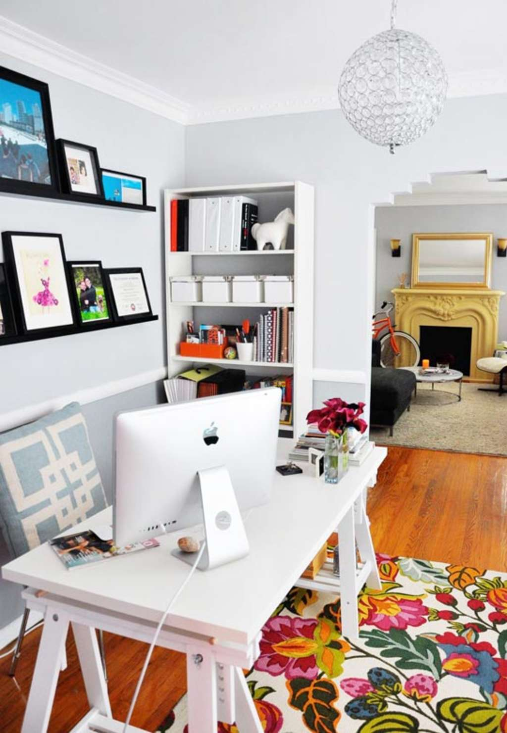 Small Living Room Office Ideas: Rebecca's Loving Living Small Home Office