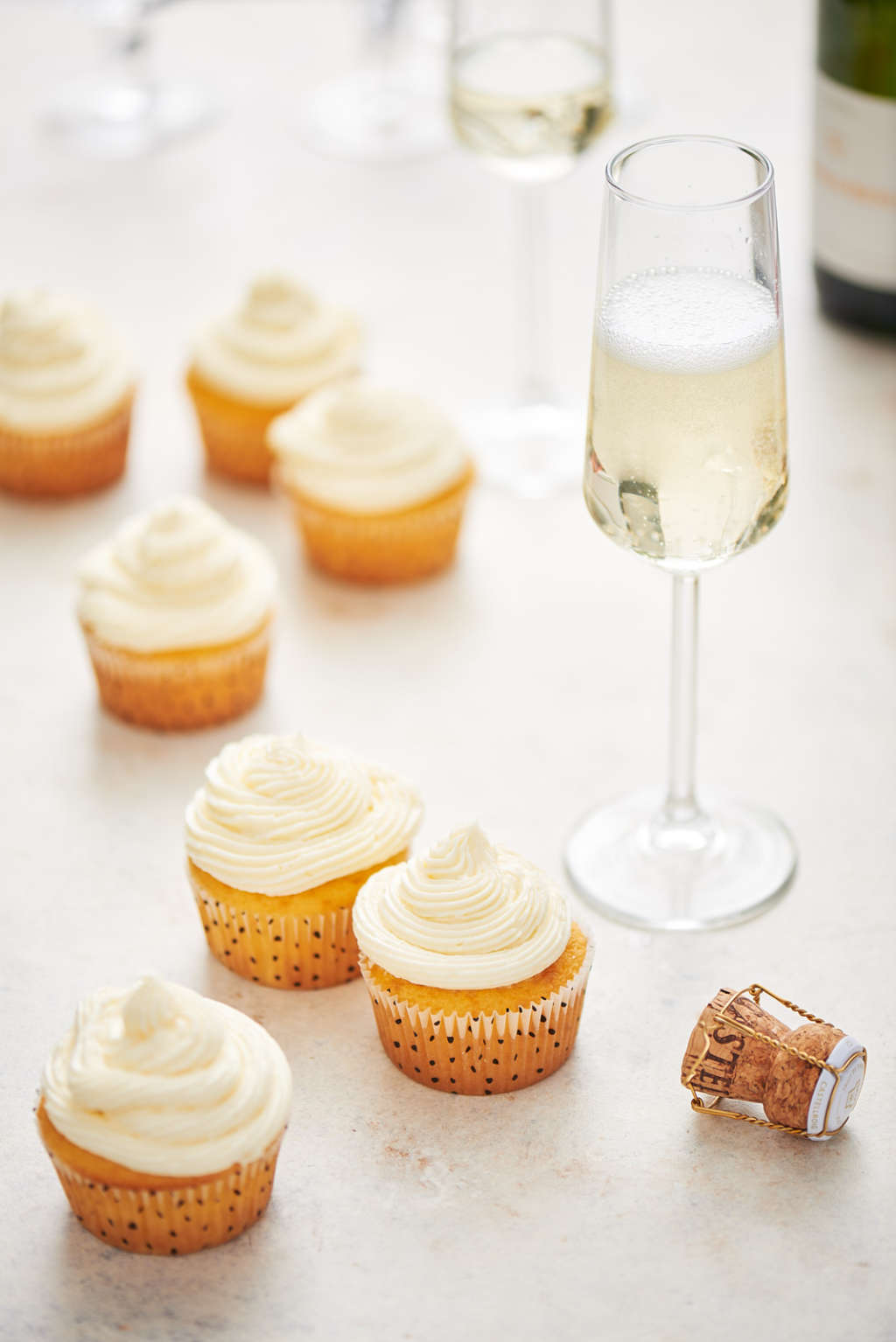 Toast 2018 with These Boozy Champagne Cocktail Cupcakes
