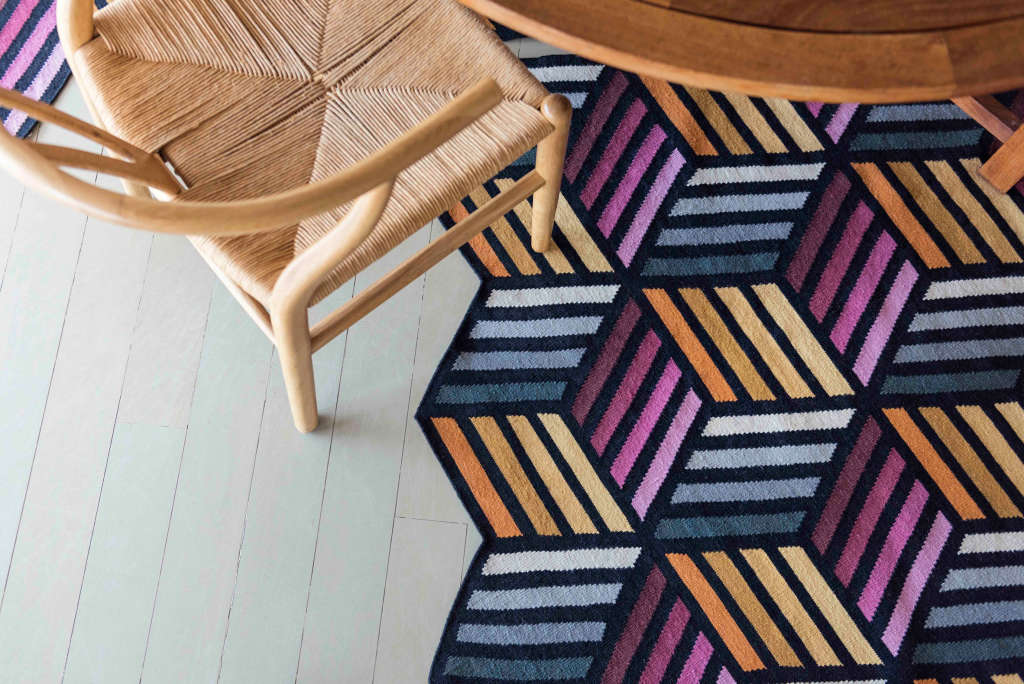 These Geometric 3D Rugs Are Patterned Perfection