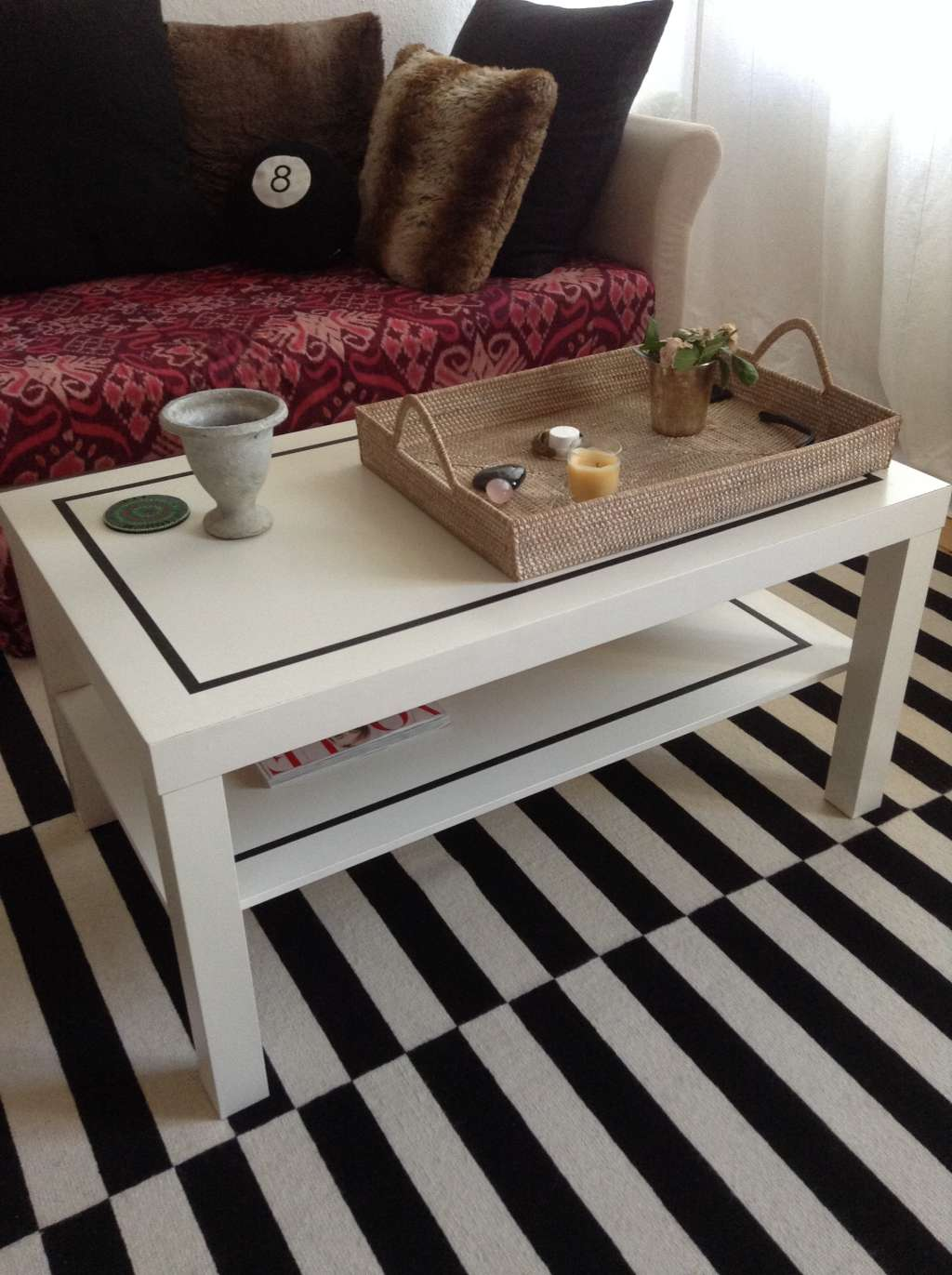 Simple Amp Stylish Diy Ikea Coffee Table Upgrade Apartment Therapy