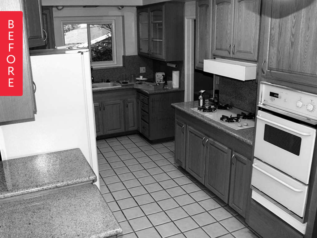 """Before & After: A Typical Dated Suburban Kitchen is Now """"To Die For"""""""