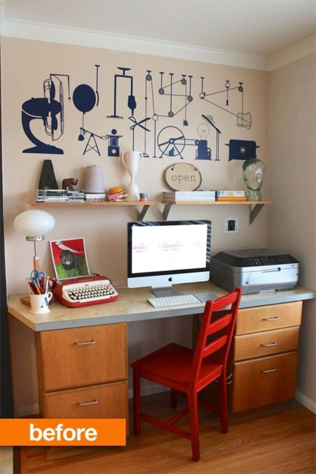 Before and After: Small Office Space Turned Reading Nook