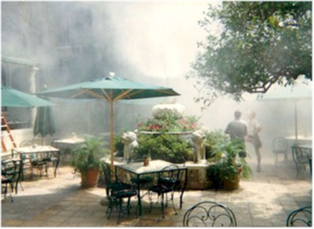 Umbrella With Fan And Mist