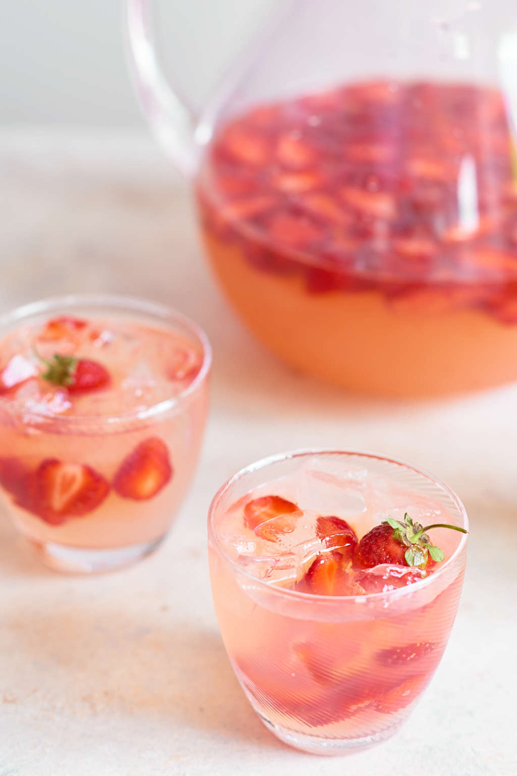 A Spiked Strawberry Lemonade for Happy Hour at Home