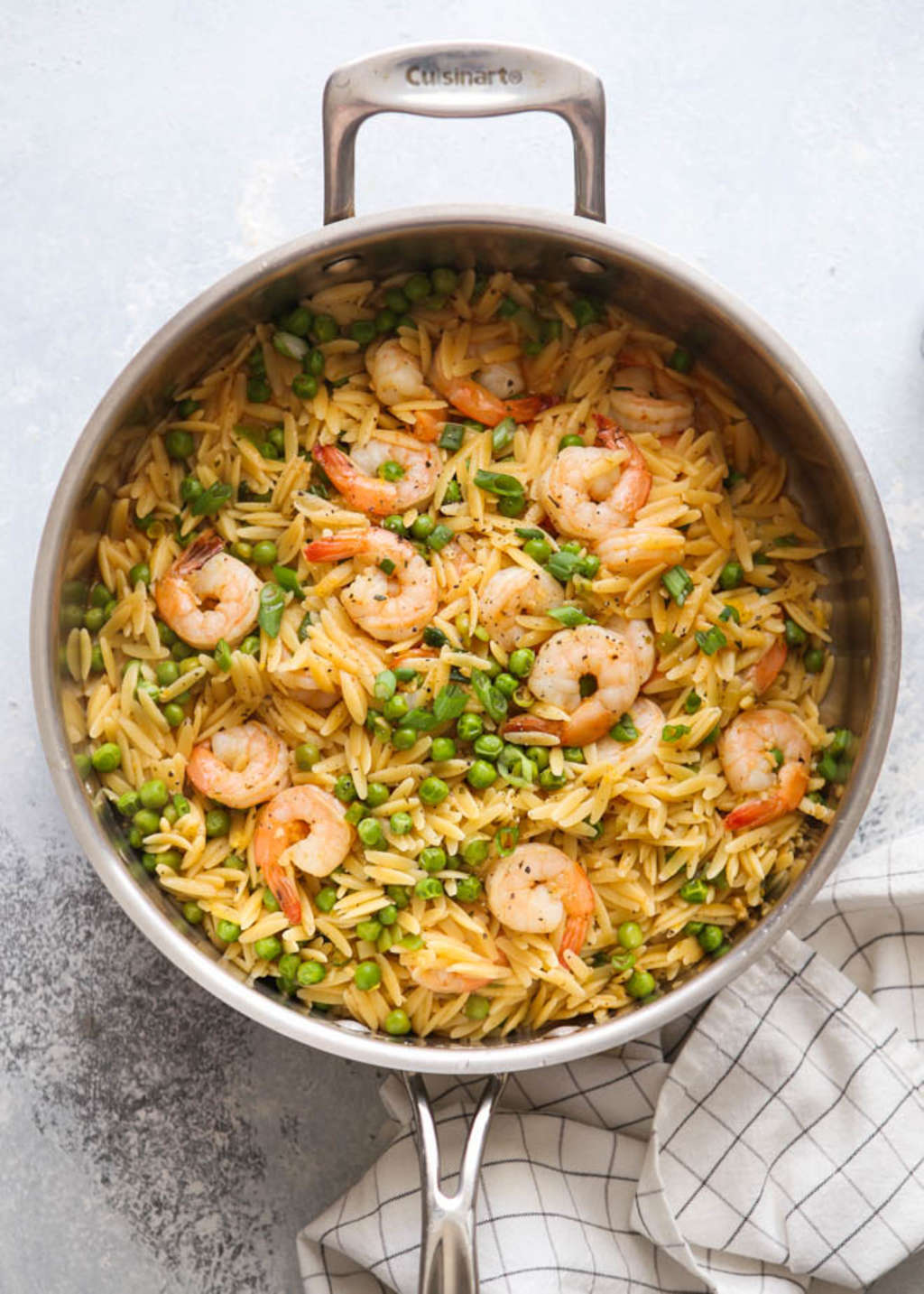 This One-Pot Shrimp & Pea Orzo Is a Weeknight Wonder