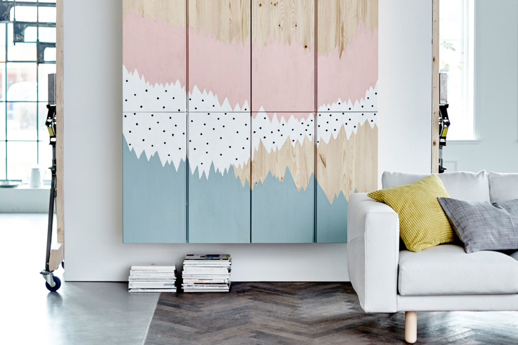 IKEA Art Hack Ideas for Large Blank Walls