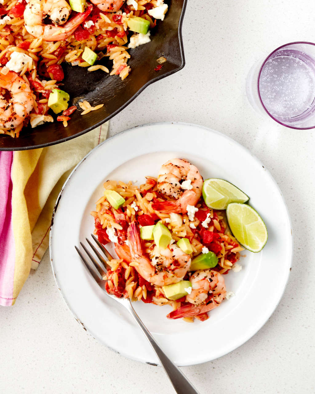 A Mexican Shrimp Orzo That Cooks Up in One Skillet