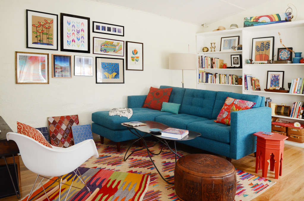 How to Add Color to Your Rental When You Can't Paint