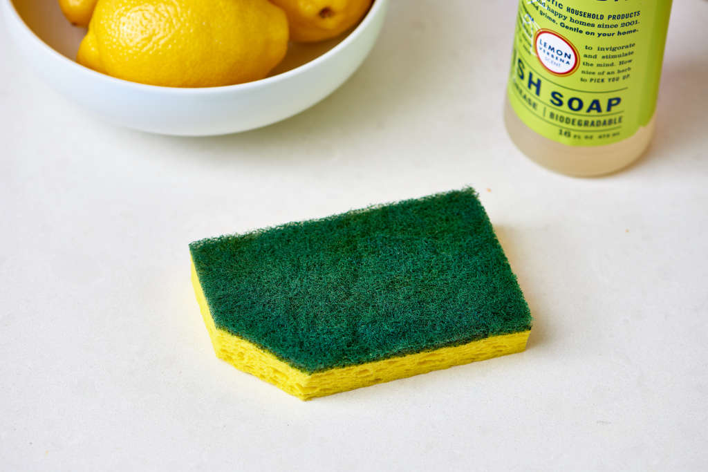 You Should Start Cutting a Corner Off Your Kitchen Sponge