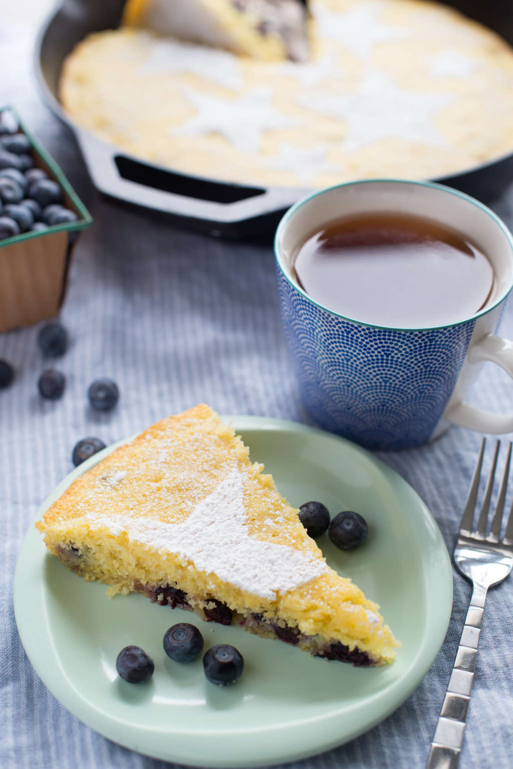 Recipe: Blueberry-Lemon Skillet Cake