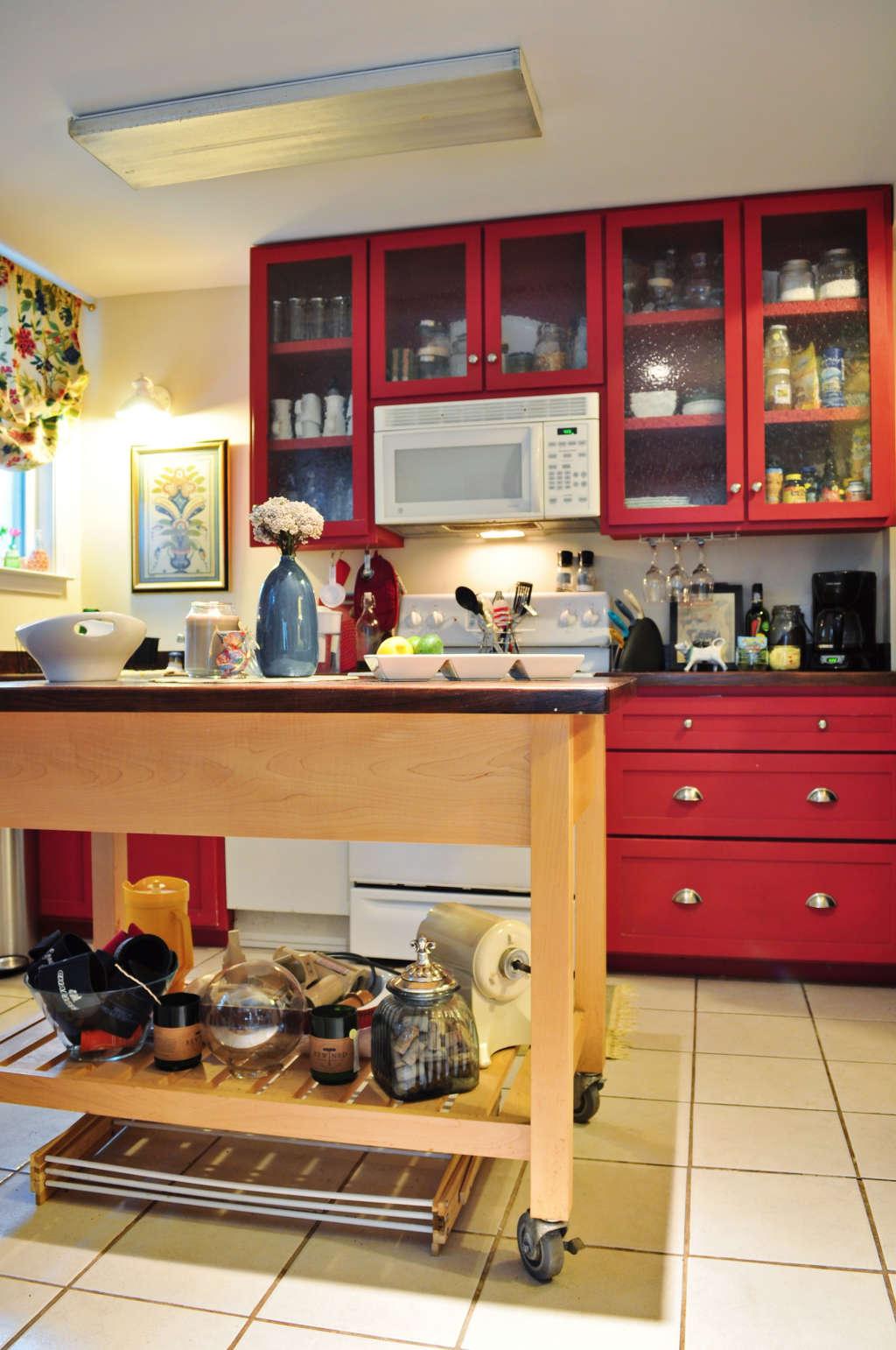 Deidre's Bold Red Kitchen Cabinets | Kitchn