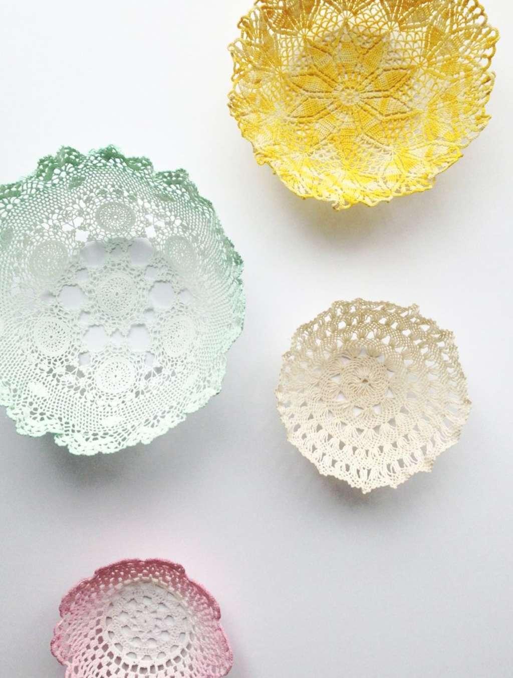 DIY Room Decor: Lace Doily Bowls