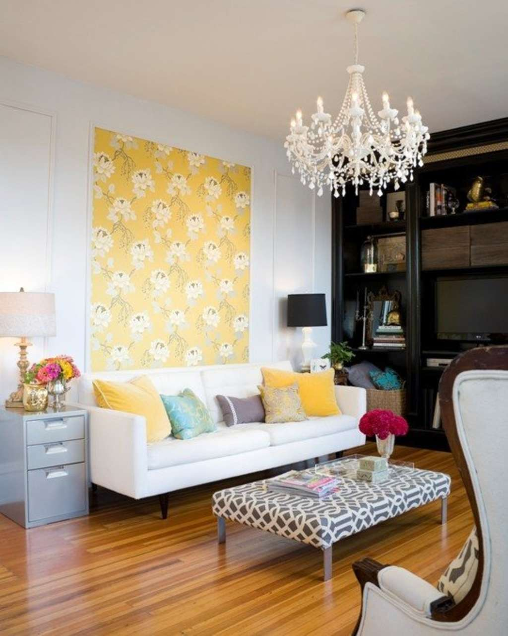 The Look For Less: Summer and Josh's Living Room on a Budget