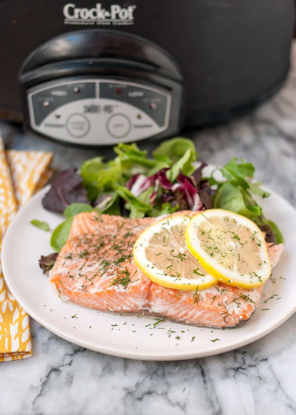 Juicy, Tender Salmon from the Slow Cooker
