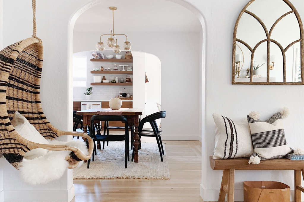 A Family of Five Swaps an RV for a Modern Spanish Bungalow