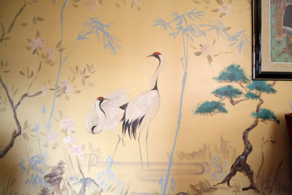 Blue Bamboo: Chinoiserie Mural