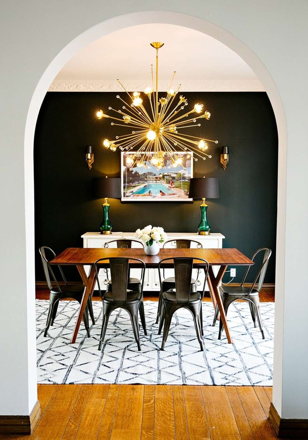 Dining Room Walls with Black