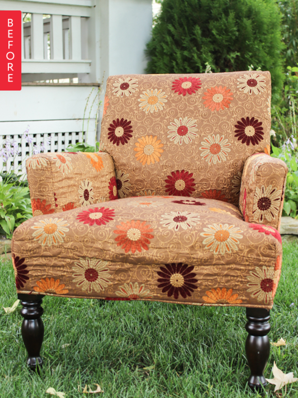 Before & After: Upholstered Chair Gets Pottery Barn-Inspired Makeover