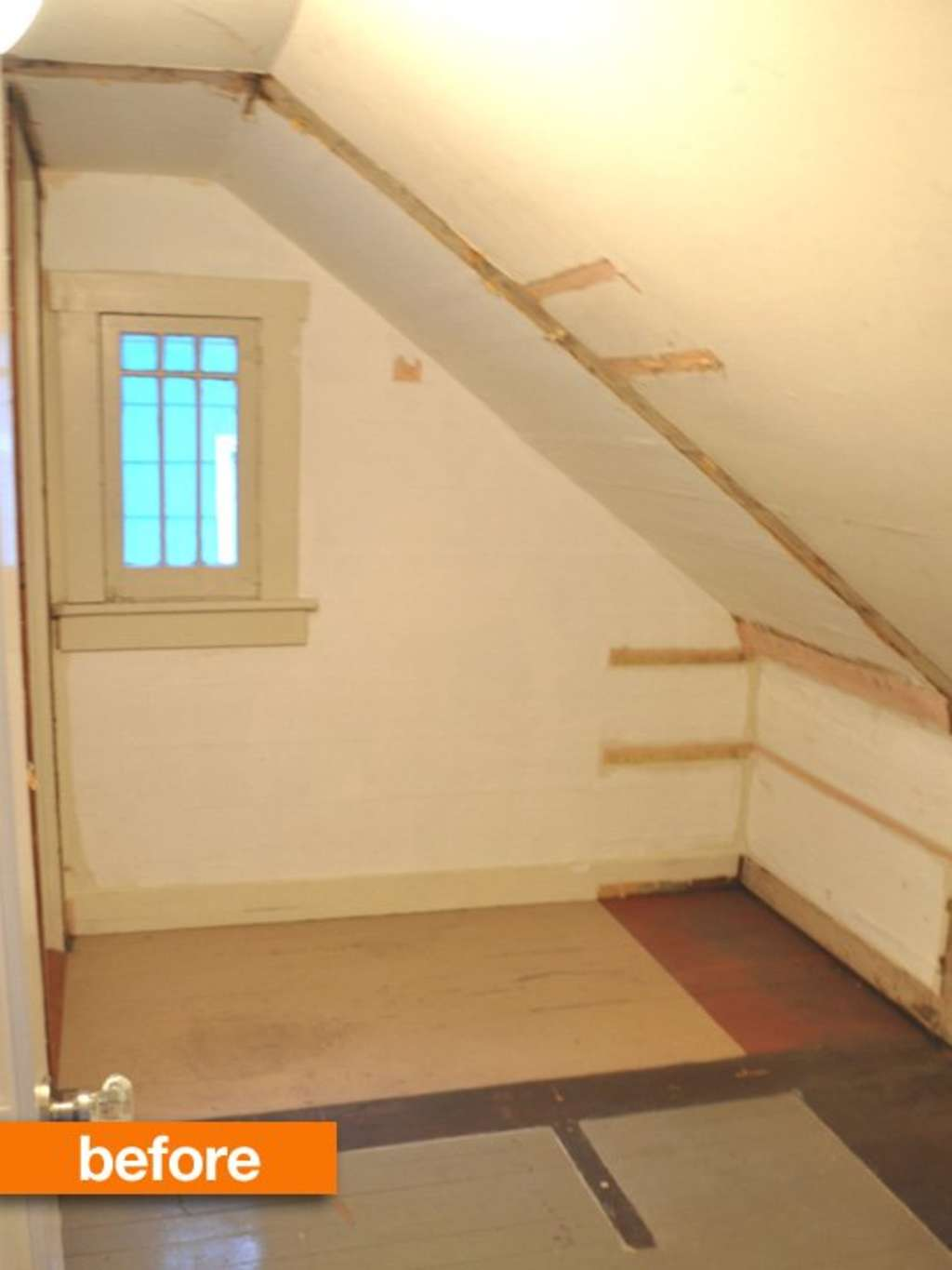 Before & After: IKEA to the Rescue for a Sloped-Ceiling Closet ...