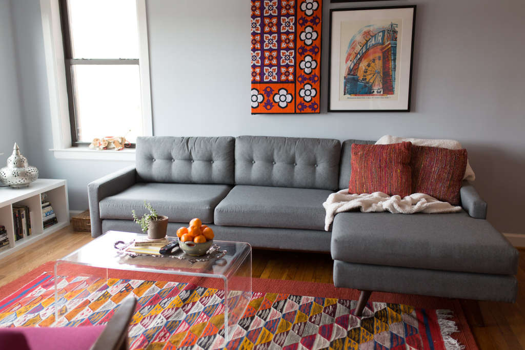 A Couple's First Apartment Together Full of Travel Finds & Blended Style