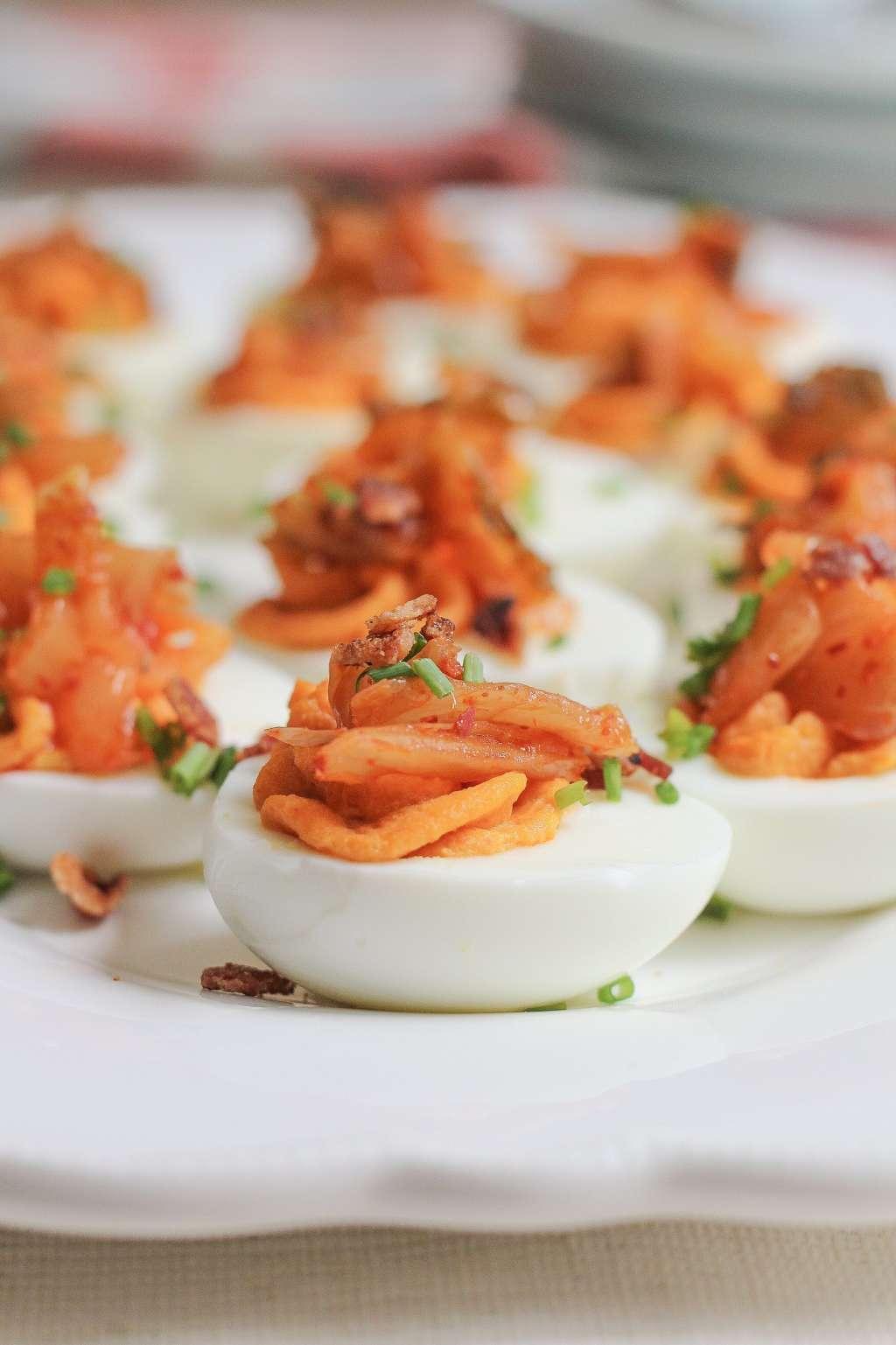 Recipe: Kimchi Deviled Eggs