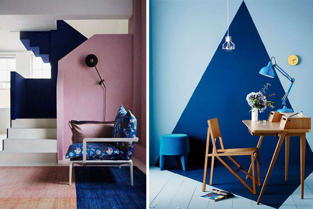 Get Funky: Ideas To Try If One-Color Walls Totally Bore You