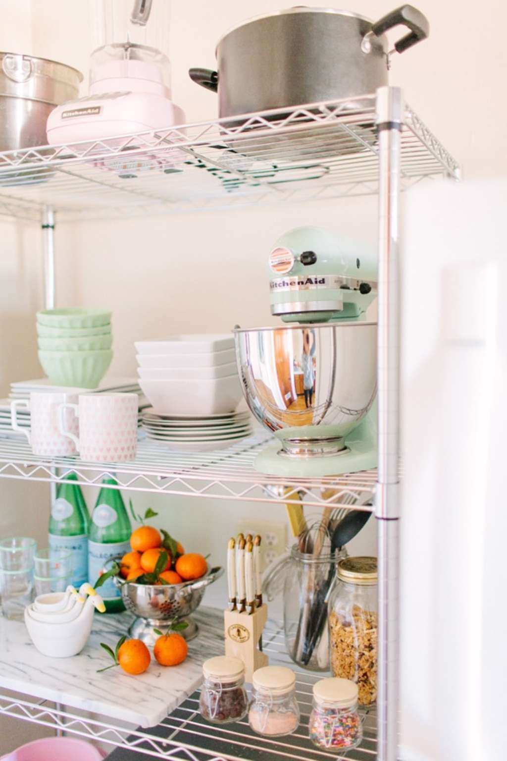 kitchen shelving ideas inspirational plan for natural | Wire Shelving Units in the Kitchen: Simple, Cheap, and ...