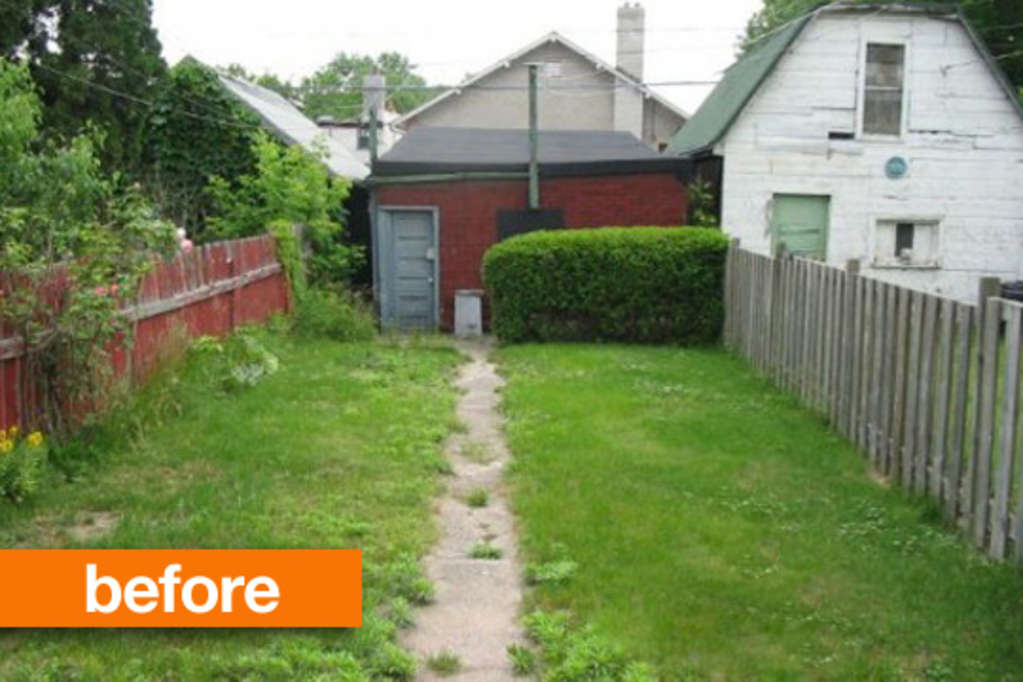 Before & After: Empty to Lush Backyard
