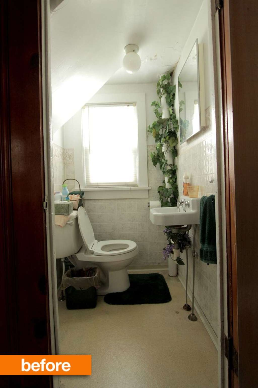 Before & After: A Tiny Bathroom Transformed