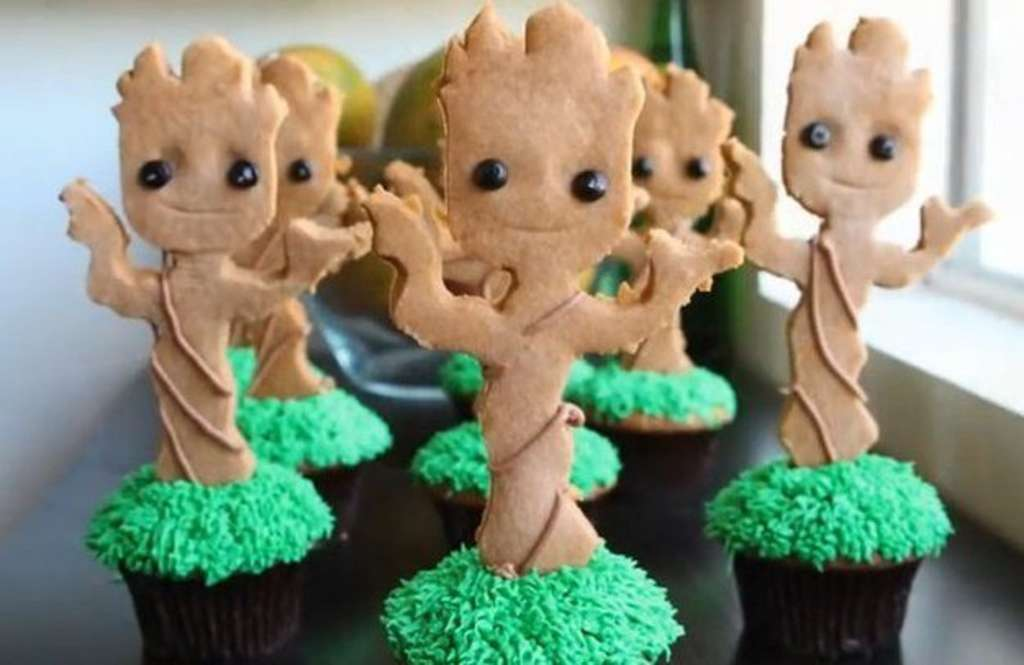 Stop What You're Doing and Make These Baby Groot Cupcakes