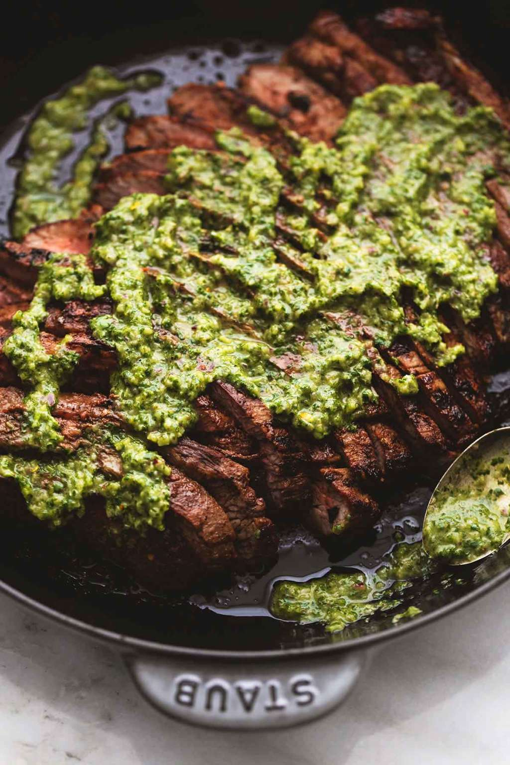 Make This Flank Steak with Chimichurri for Valentine's Day