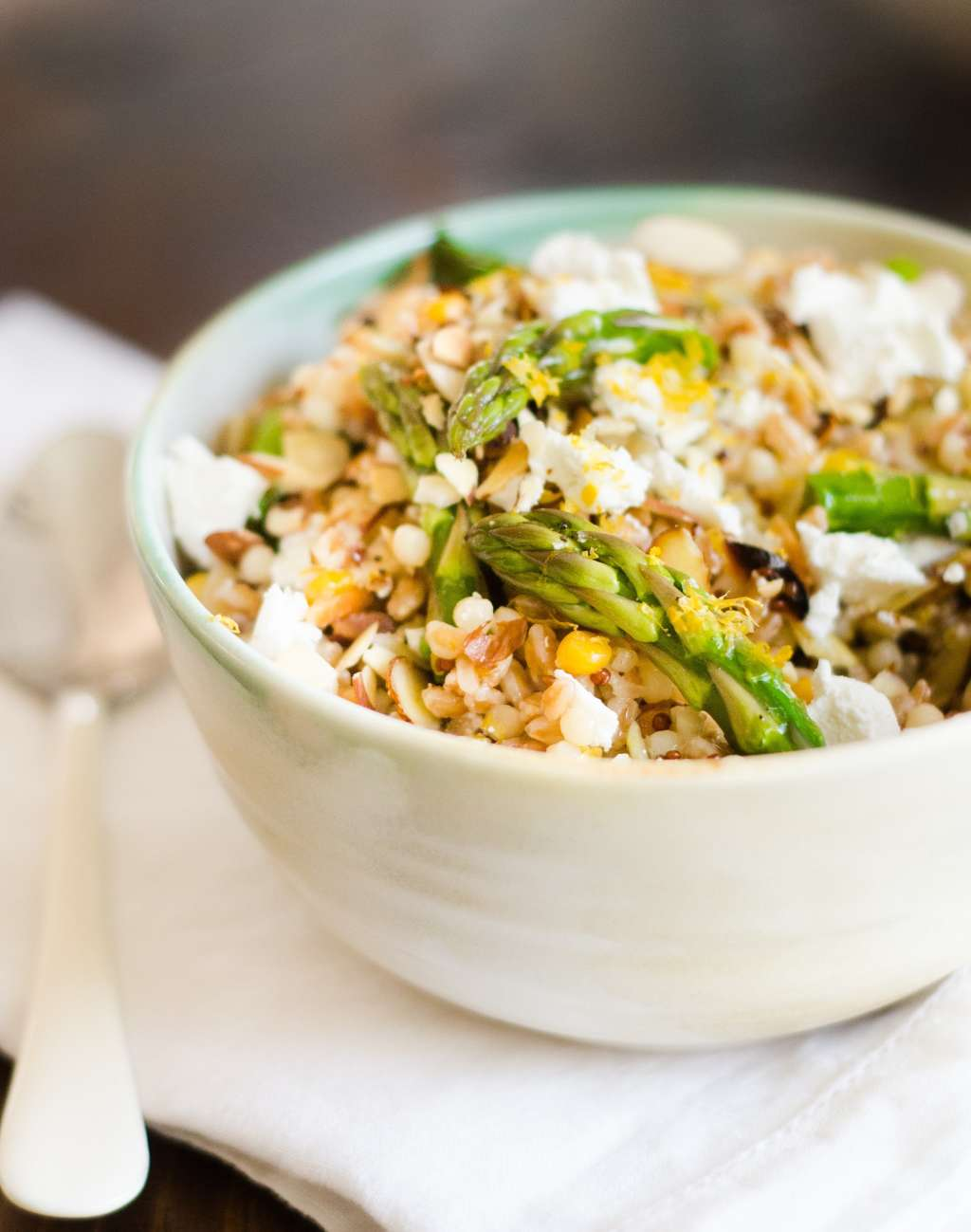 Recipe: Spring Grain Salad with Asparagus & Meyer Lemon