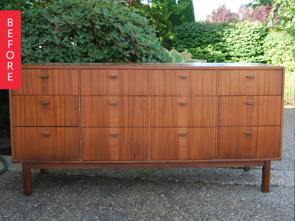 Before & After: Credenza Gets a Fresh Finish