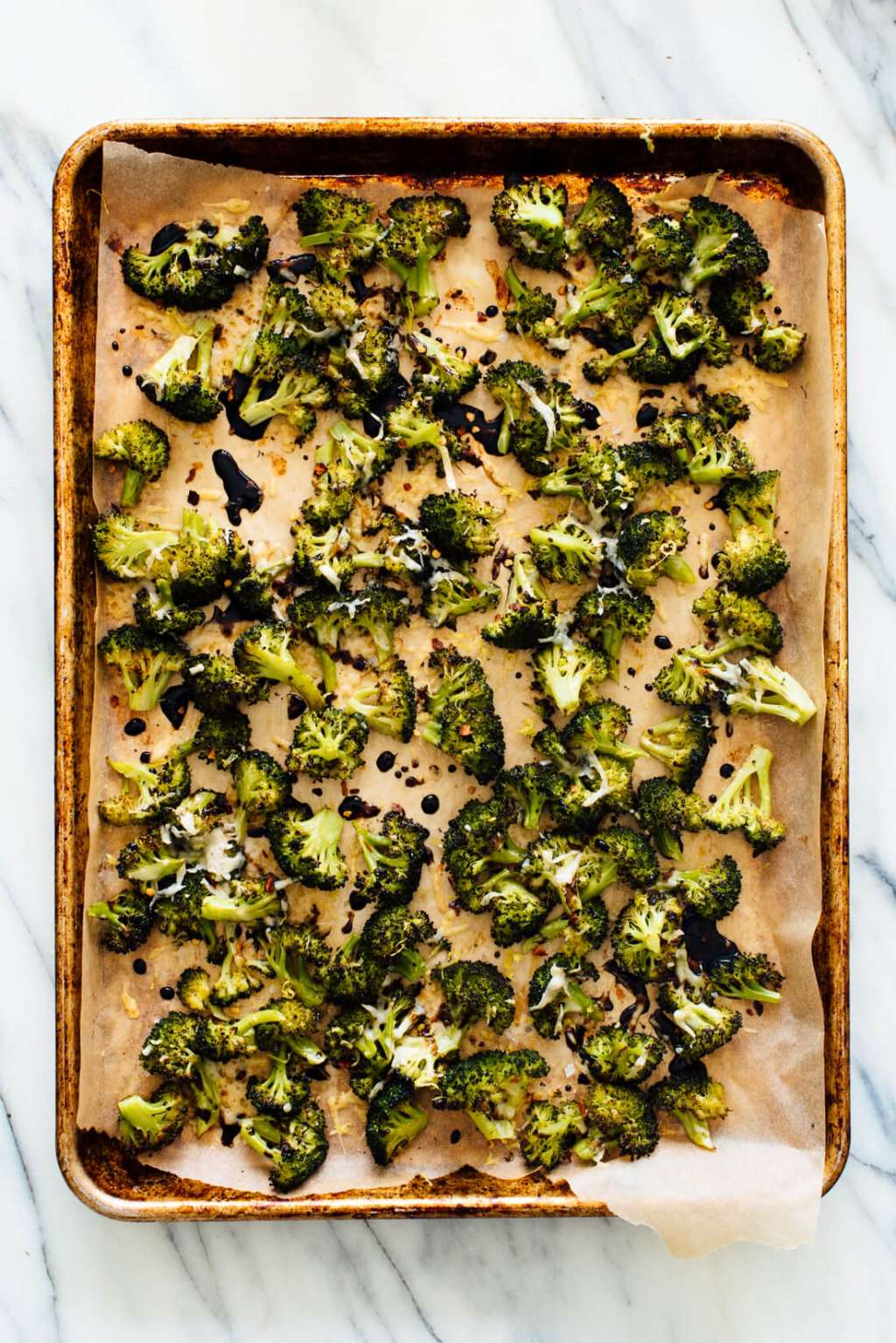 Make Parmesan Roasted Broccoli with Balsamic Drizzle Tonight
