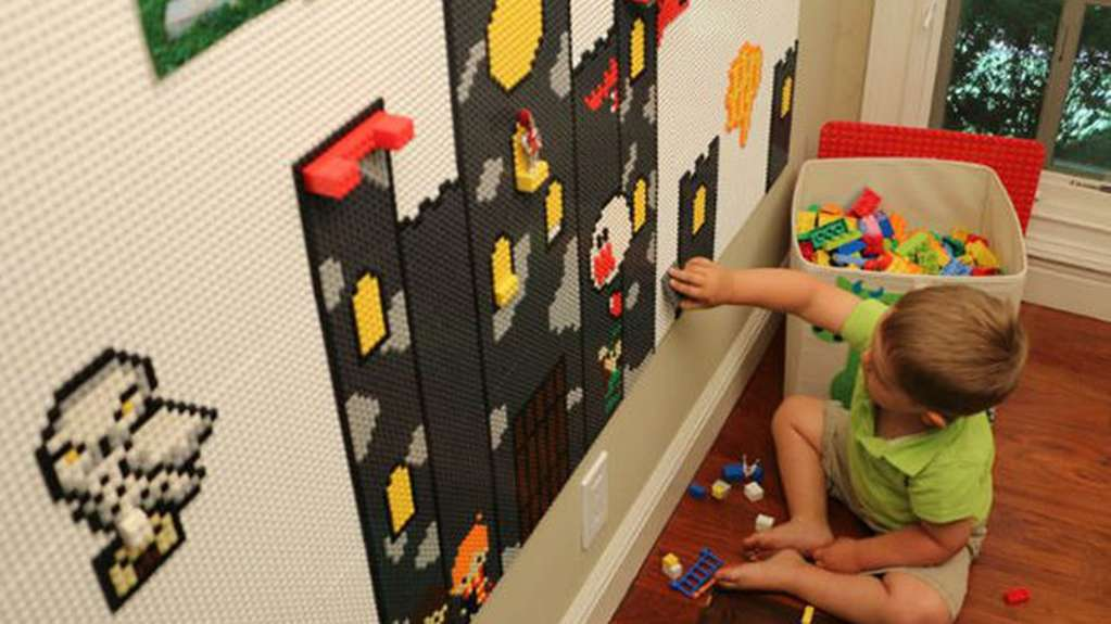 These Tiles Turn Your Wall Into a LEGO Building Base