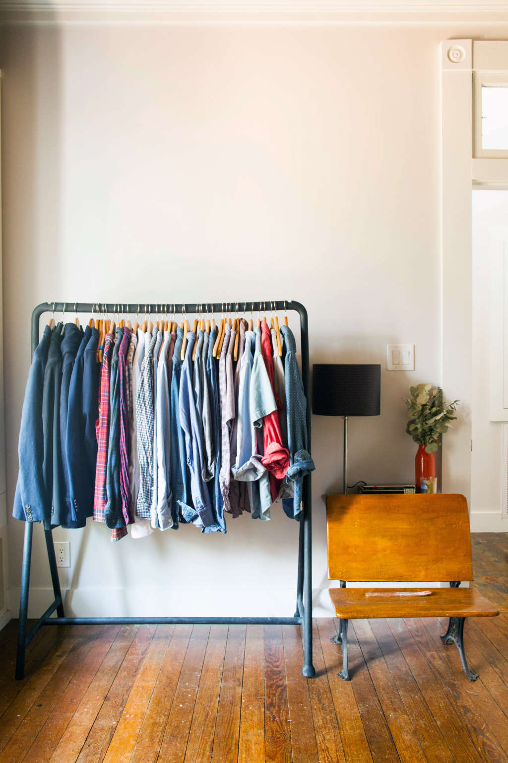 The Best Freestanding Wardrobe Clothes Racks Apartment Therapy Standing Hanger Multifunction Stand
