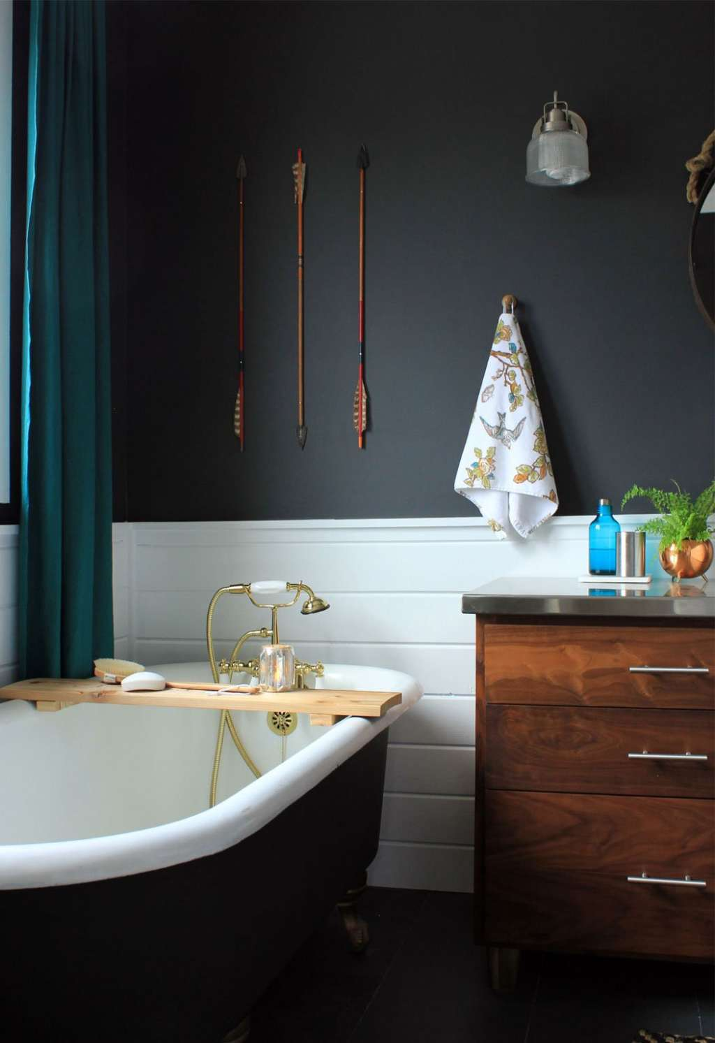 "Amanda's ""Dramatic Slate"" Bathroom"
