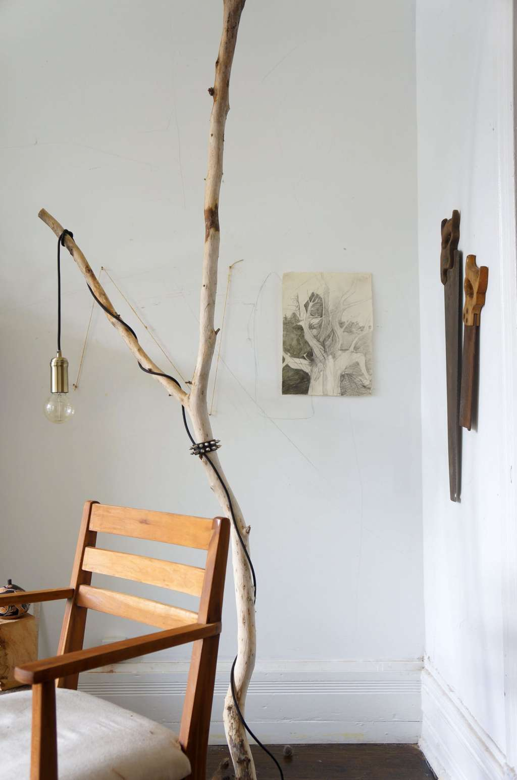 One of a Kind Style: A DIY Tree Branch Floor Lamp