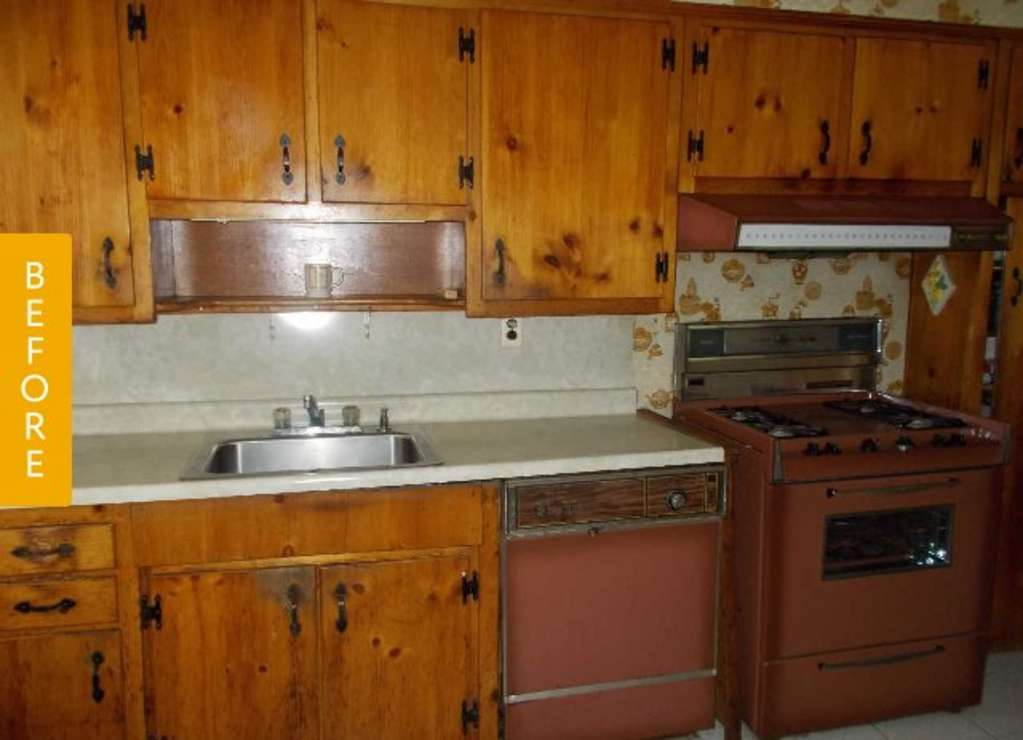 The 70 000 Dream Kitchen Makeover: Kitchen Before & After: 1970s Orange Explosion Is Reborn