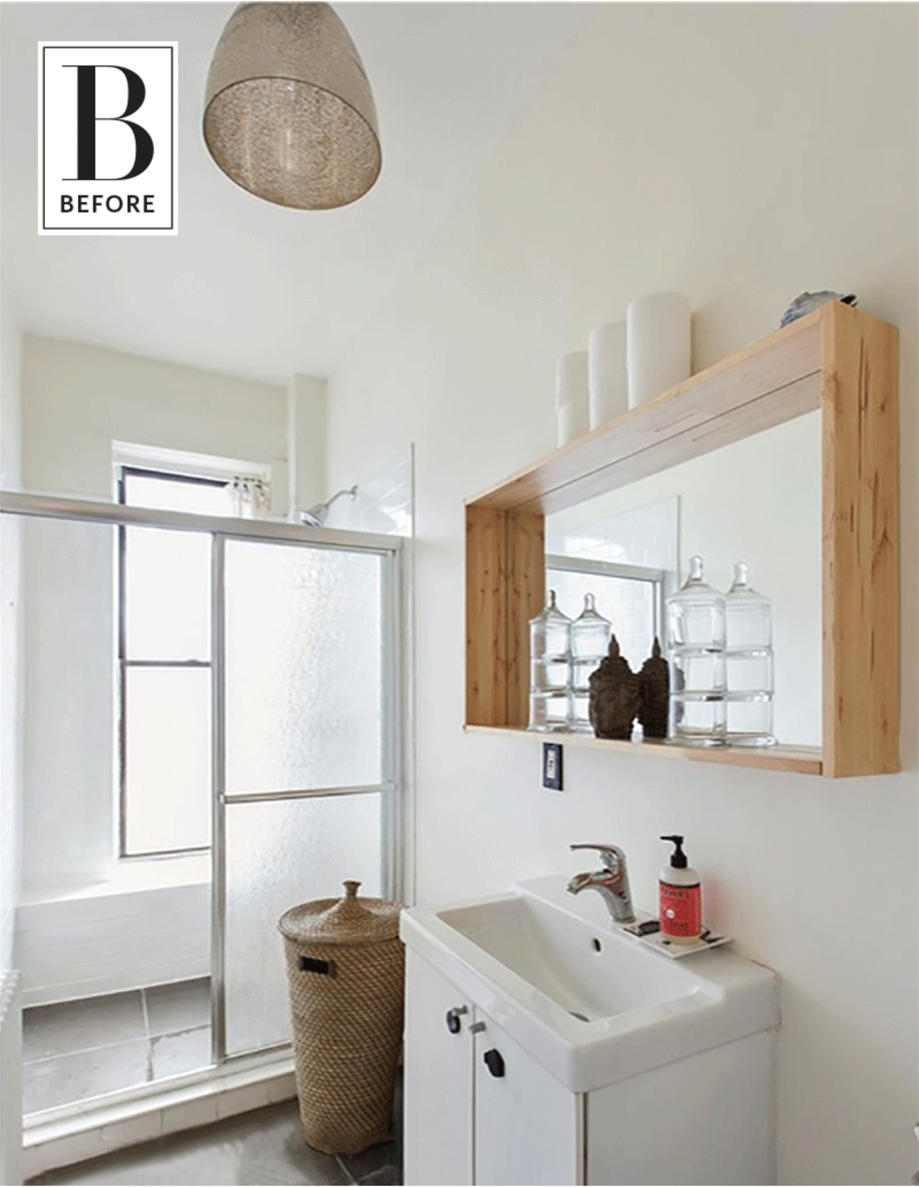 Before & After: This New Bathroom Floor is To Die For