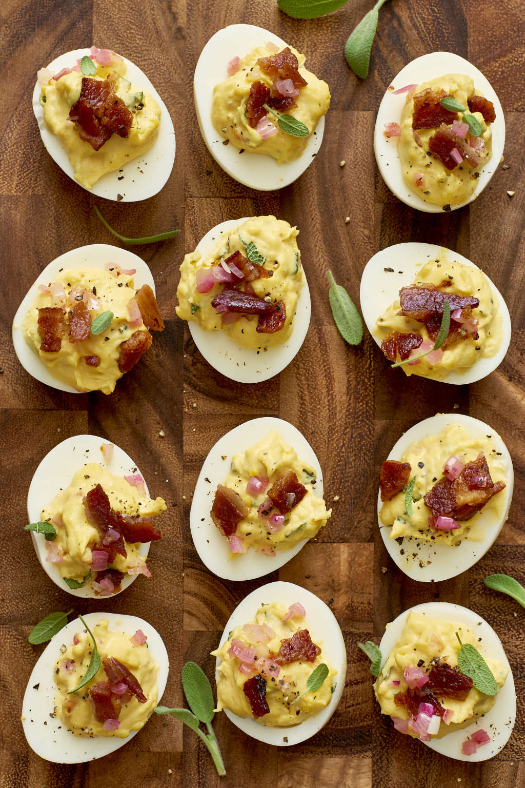 Bacon-Sage Deviled Eggs Are the Ultimate Thanksgiving App