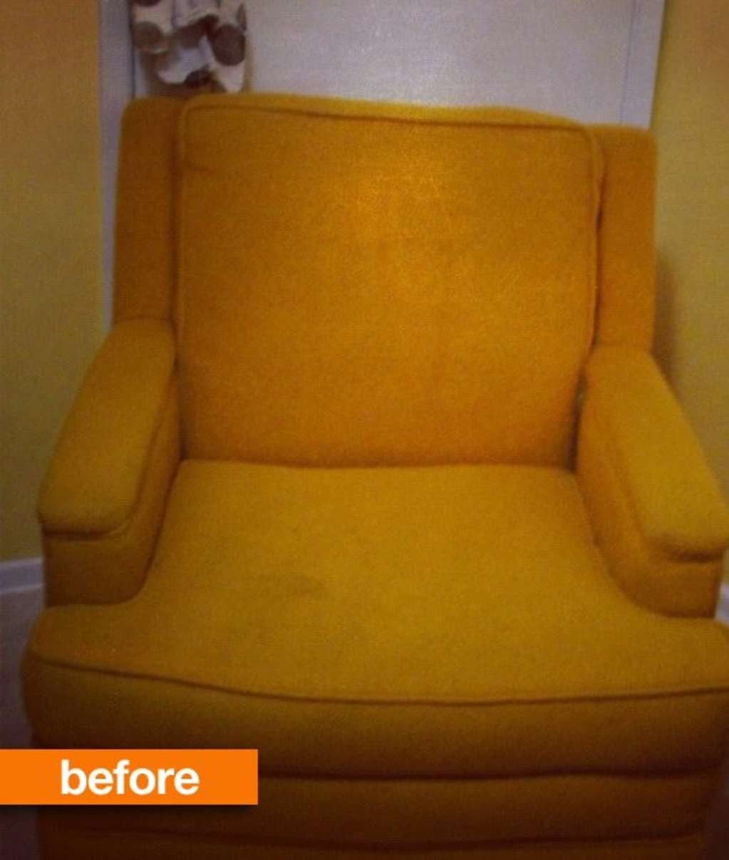 Before & After: A Retro Chair Gets a Cheerful Redo