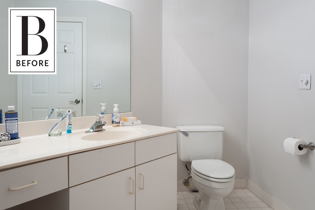 A Boring Rental Bathroom Gets a Totally Reversible Makeover