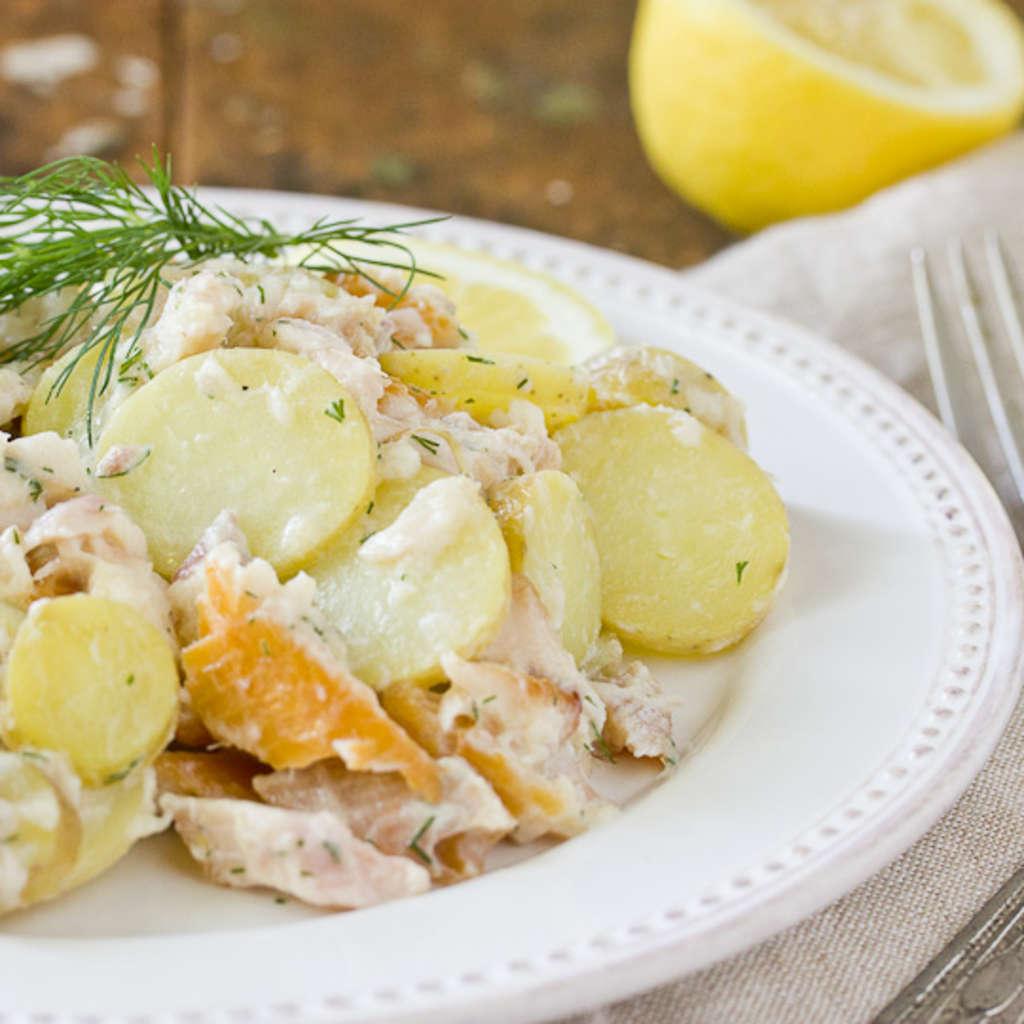 Recipe: Smoked Trout & Potato Salad with Buttermilk Vinaigrette