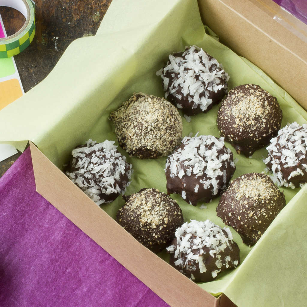 "Homemade Gift Recipe: ""Seven Layer"" Chocolate Truffles"