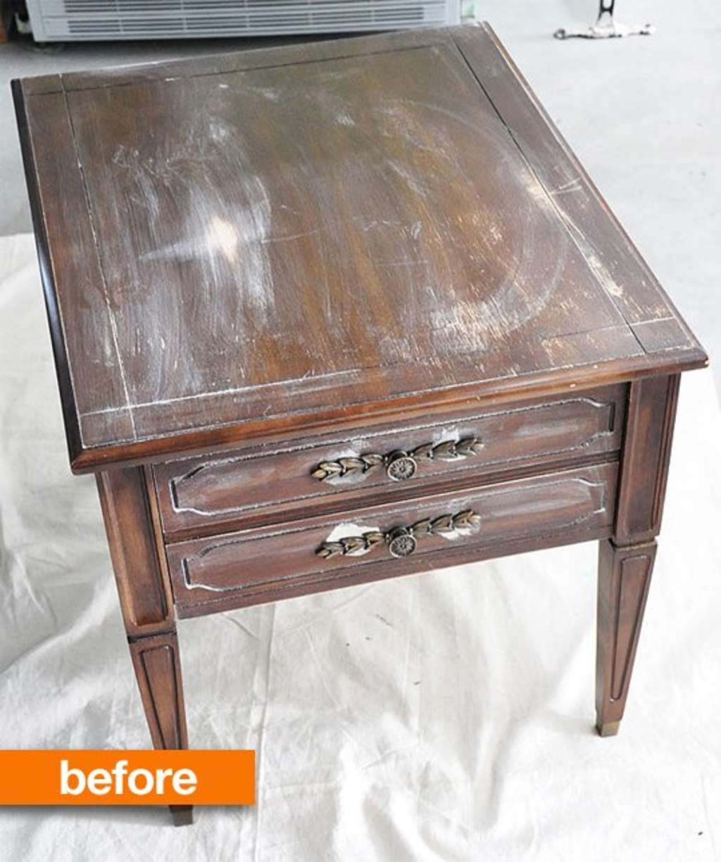 Before & After: What To Do With A Grimy Garage Sale Side Table