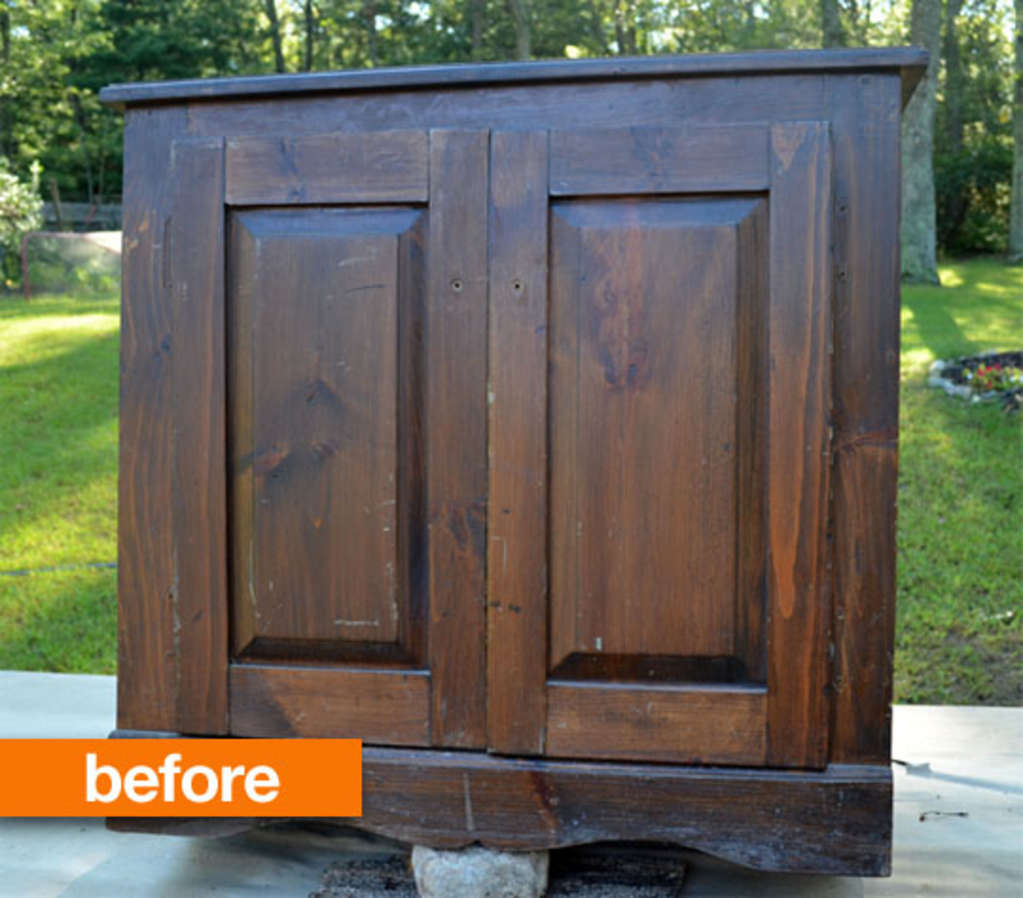 Before & After: A Handmade TV Stand Gets Stunning