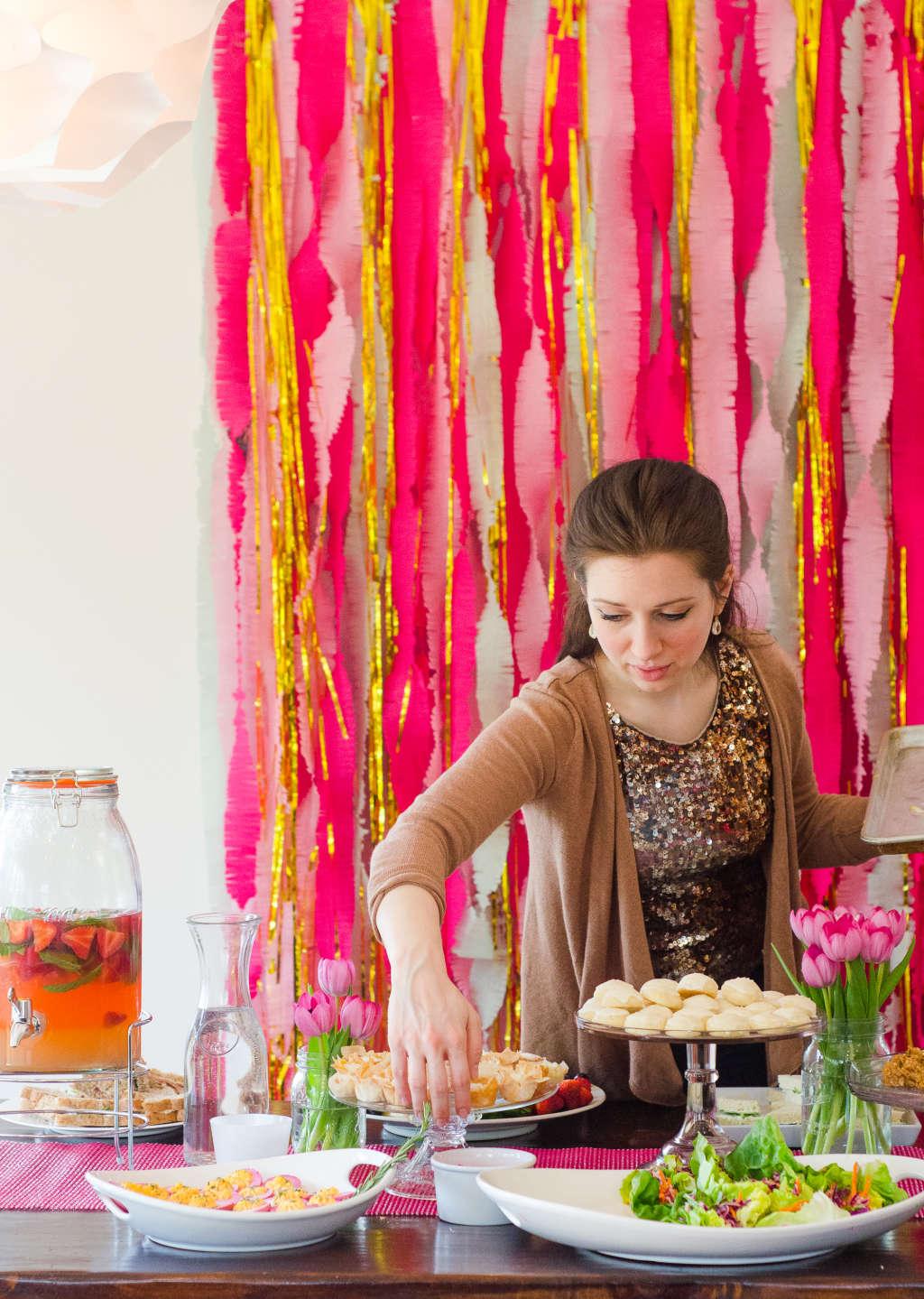 A Hot Pink Amp Glam Bridal Shower Kitchn