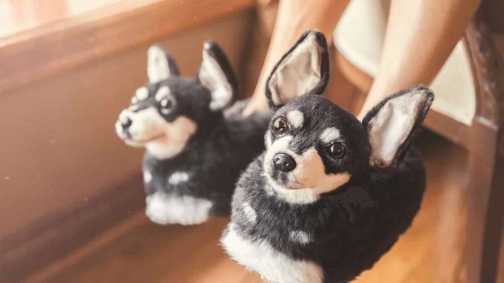 You Can Buy a Pair of Slippers That Look Just Like Your Dog